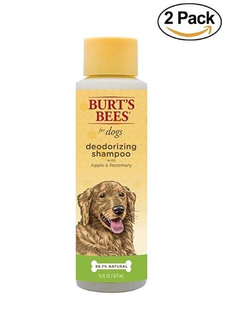 Burt's Bees deodorizing dog shampoo, available on Amazon
