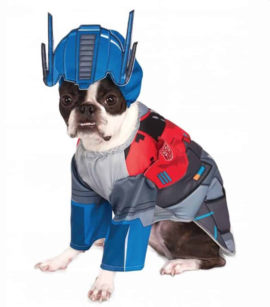 Marvel Optimus Prime superhero costume pour chien