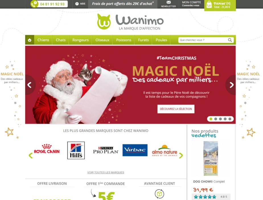 le site de la boutique Wanimo